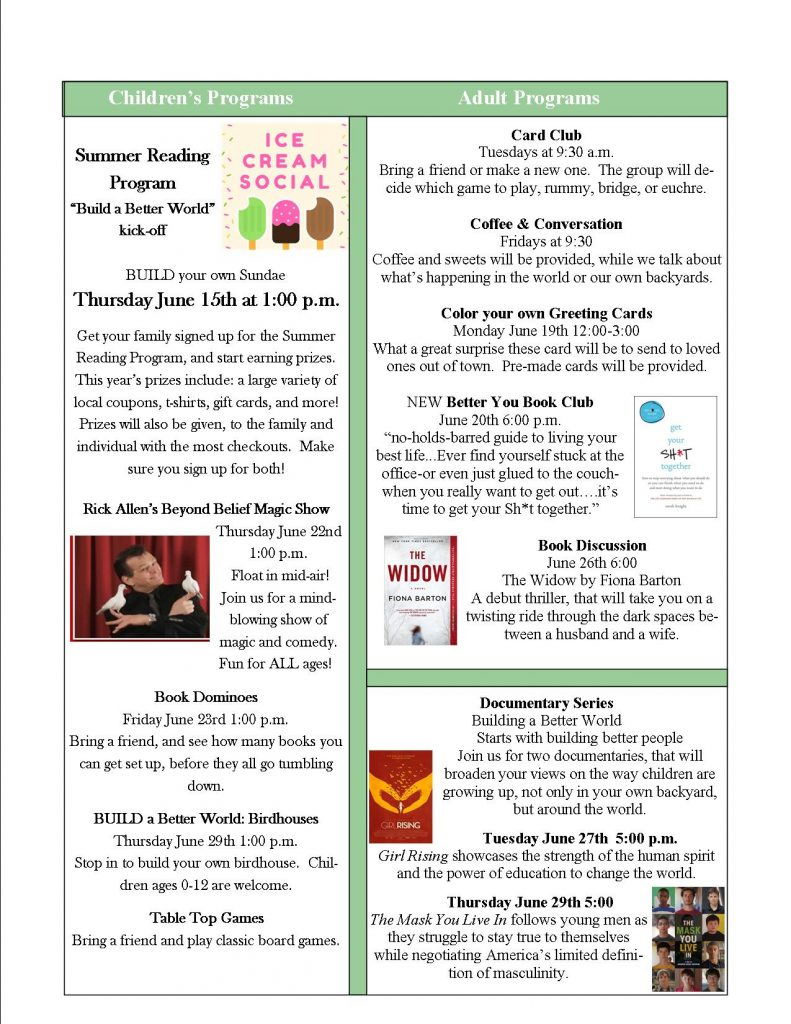 garden walk flyer 4 u2013 powers memorial library